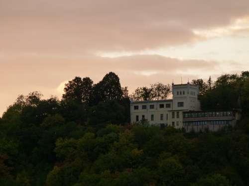 Sunset Building Forest Romance