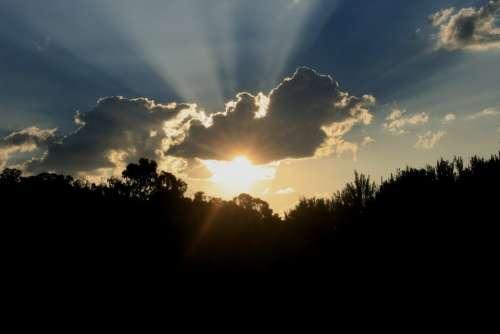 Sunset Bright Shiny Stunning Light Sun