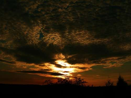 Sunset Horizon Cloud View Weather Outdoor