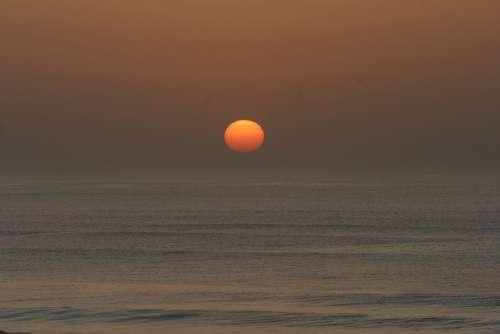 Sunset Atlantic Mimizan Plage West France