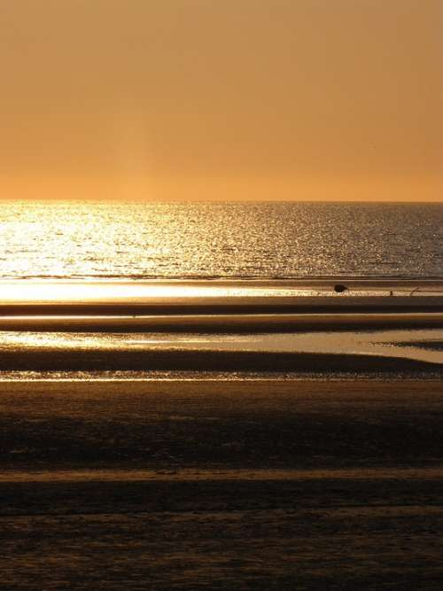 Sunset North Pas De Calais Cloud Beach Sea Seawall