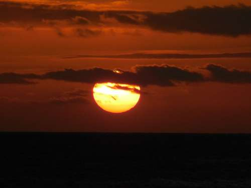 Sunset Sea Clouds Sky Skies Filter Hawaii Sun