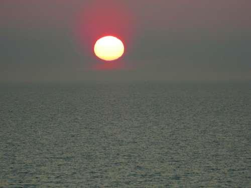Sunset Twilight Evening Sun Beautiful Horizon