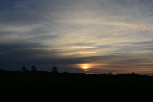 Sunset Afterglow Evening Sky Nature Sky Clouds