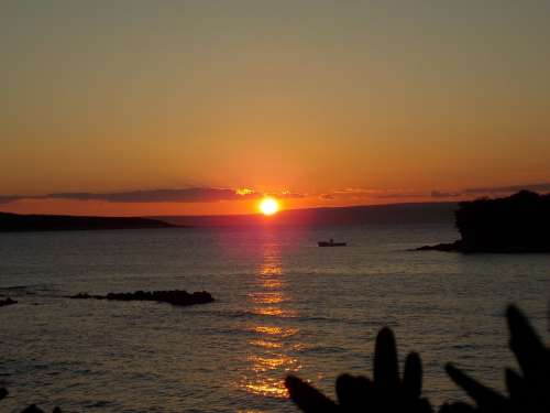 Sunset Afterglow Evening Sky Abendstimmung Sea