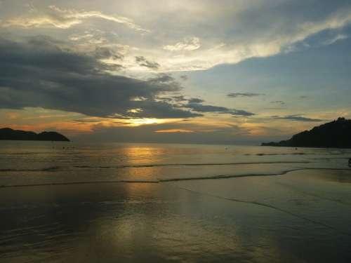 Sunset Clouds Beach Mar