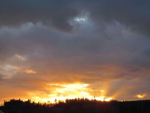 Sunset Evening Sky Colorful Evening Sky Color