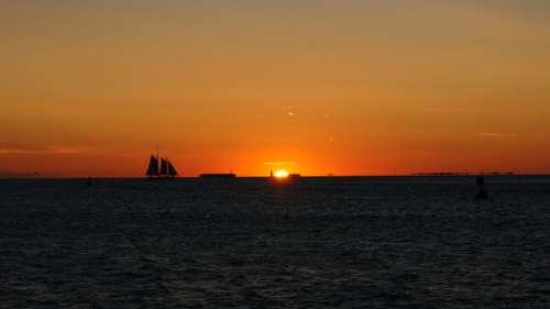 Sunset Afterglow Sky Landscape Nature Sea