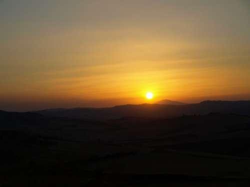 Sunset Enna Sicily Barrafranca