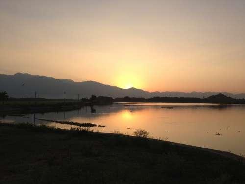 Sunset Landscape Landscapes Golden Sunset Warm