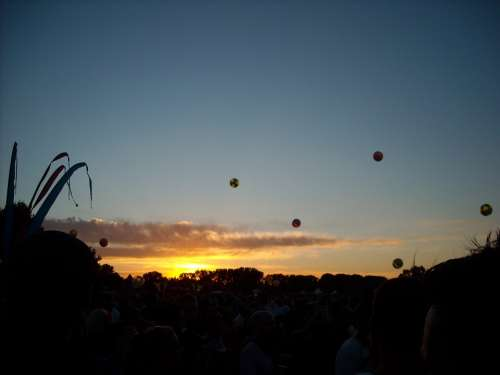 Sunset Festival Techno Landscape Twilight Sky