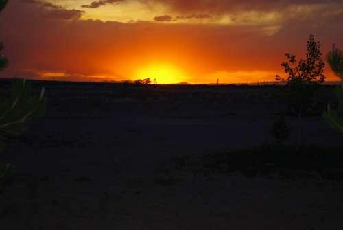 Sunset Golden Sunset Landscape Golden Glow