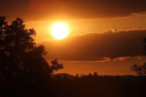 Sunset Sun Evening Sky Sky Afterglow Abendstimmung
