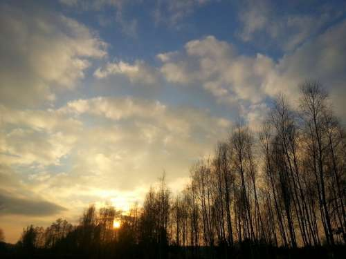 Sunset Nature Landscape Clouds