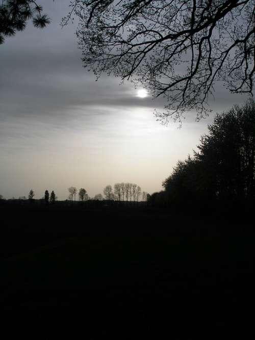 Sunset Abendstimmung Sky Atmosphere Dusk Still