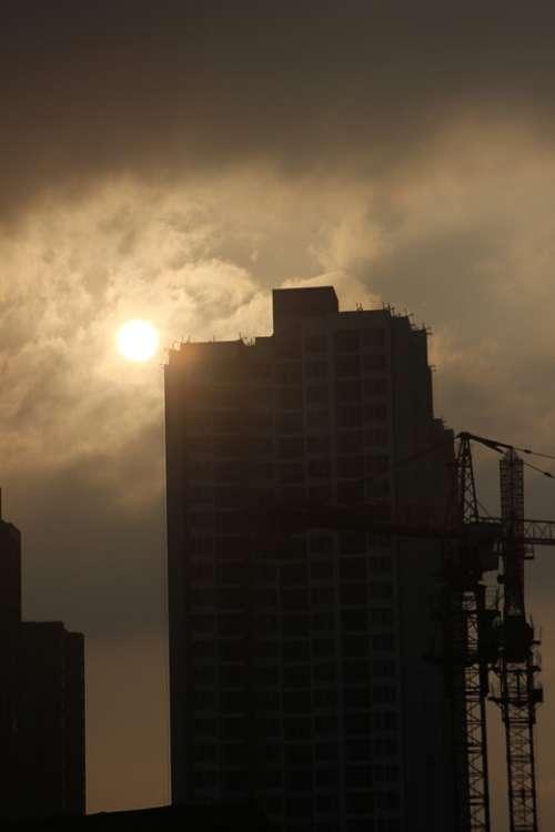 Sunset Tall Buildings Sky Twilight Build