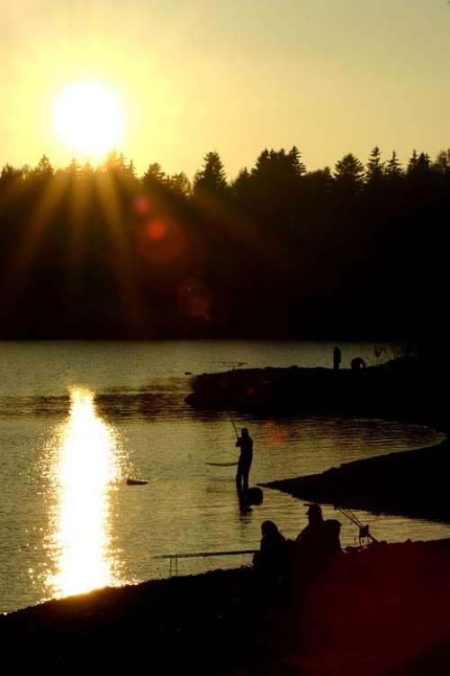 Sunset Fisherman Dam