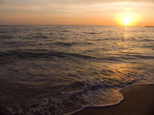 Sunset Sea Calm Sea