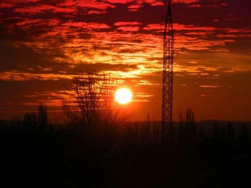 Sunset Sky Sun Cloud Twilight