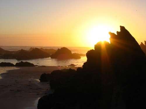 Sunset Sea Abendstimmung Evening Sky Beach