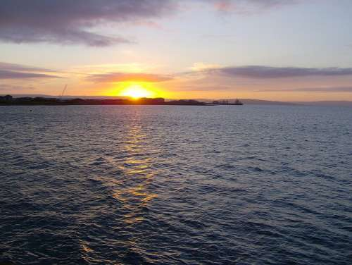 Sunset Orkney Scotland Sea