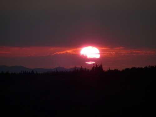 Sunset Sky Mountains