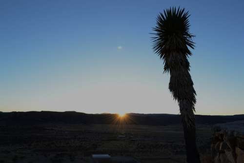 Sunset Desert Casablanca Durango Mexico Sky