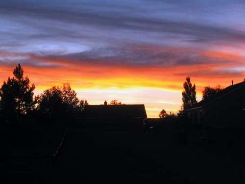 Sunset Clouds Evening Abendstimmung Evening Sky