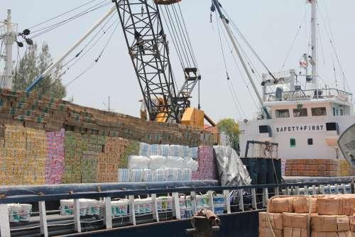 Surabaya Port Java Ships