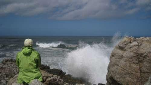 Surf Rock Spray Coast Sea Wave Beach Ocean