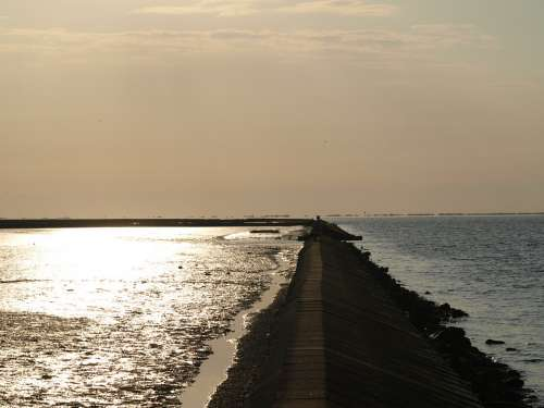 Surf Wall North Sea Wadden Sea Natural Heritage
