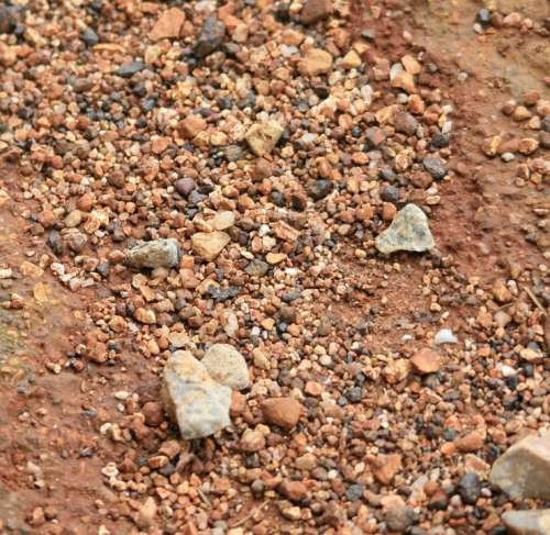 Surface Ground Hard Rocks Stones Small Gravel