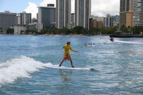 Surfing Surfer Honolulu Hawaii