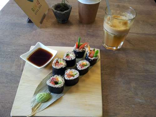 Sushi Japanese Food Delicious Restaurant Lunch