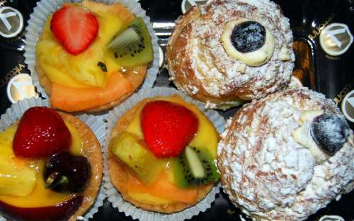Sweet Pastries Alimentari Foods Fruit Strawberry
