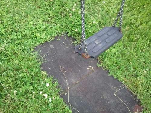 Swing Broken Playground Neglected