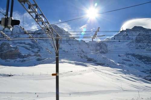 Swiss Top Of Mountin White Mountin Snow Mountin