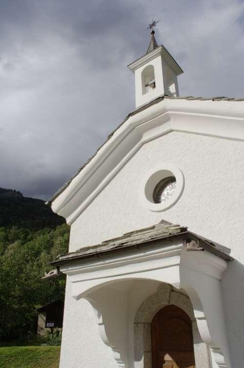 Switzerland Valais Ausserberg Chapel