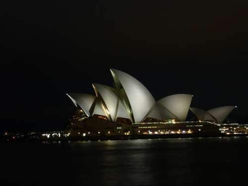 Sydne Opera Opera House Night Concert Hall