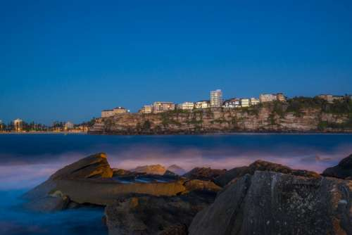 Sydney Australia Manly Winter Beach Sunrise