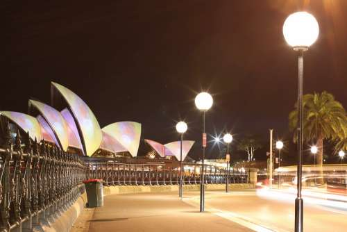 Sydney Circular Quay Opera House Architecture Night