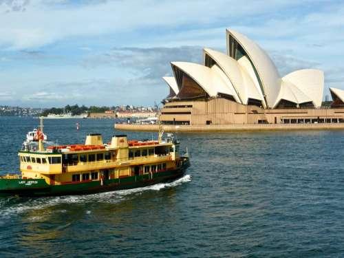 Sydney Opera House Australia Landmark Harbour Ship