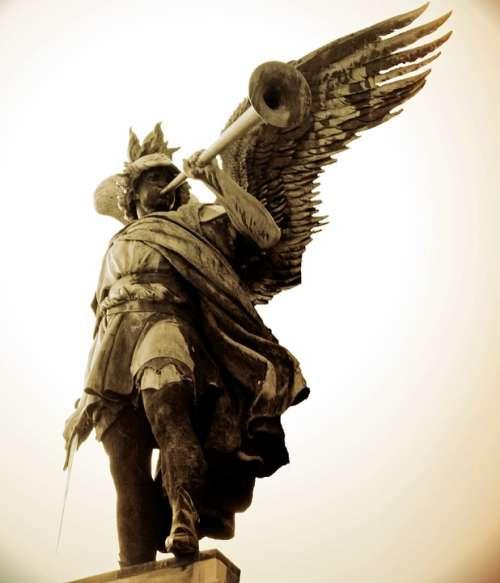 Symbol Angel Figure Sculpture Wing Statue Memory