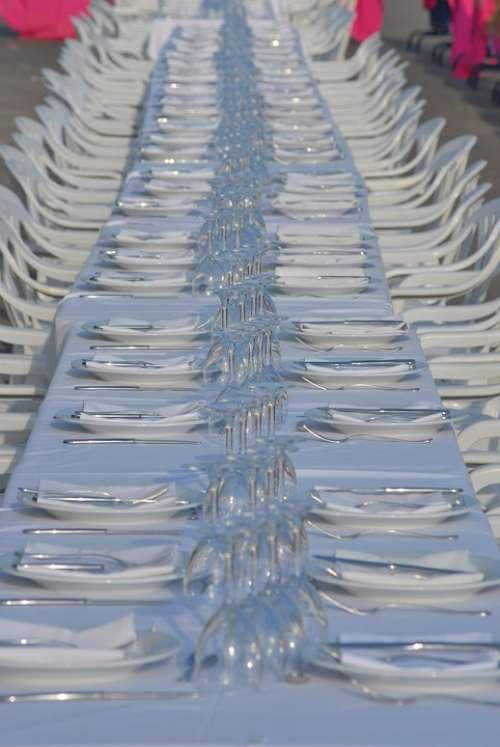 Table Dishes Vessels Celebration Banquet