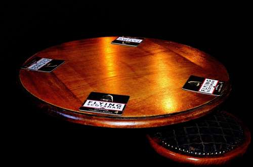 Table Chairs Pub Restaurant Black Wood Background