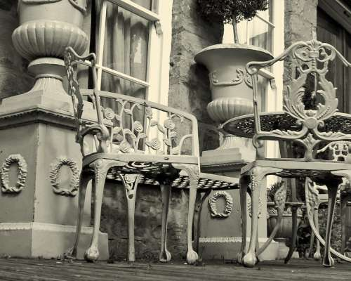 Table Chairs Decorations Terrace Iron Ironwork
