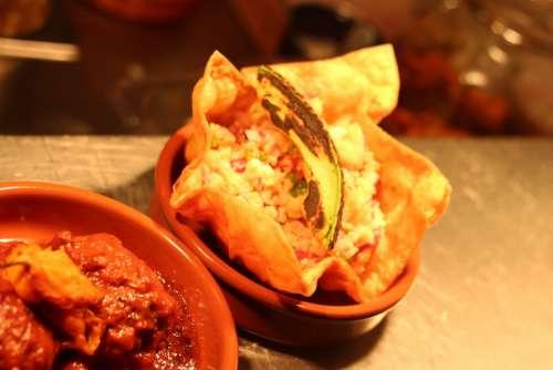 Taco Food Plate Salsa Spicy Chicken Restaurant