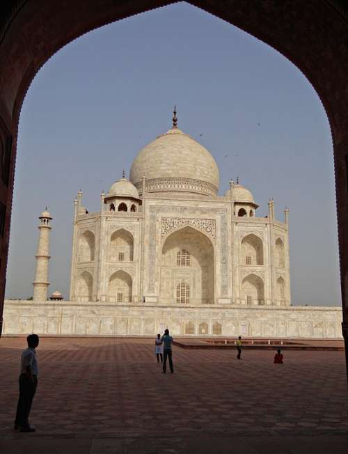 Taj Mahal Unesco Site World Wonder White Marble