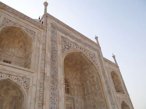 Taj Mahal Cross-Section Arches White Marble