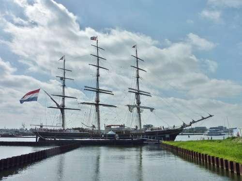 Tall Ship Sailing Ship Clipper Boat
